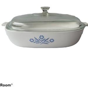 "Corning Ware Blue Corn Flower 10"" Casserole Dish"